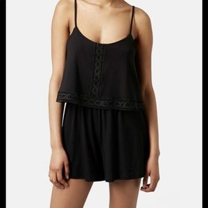 Topshop Lace Overlay Romper